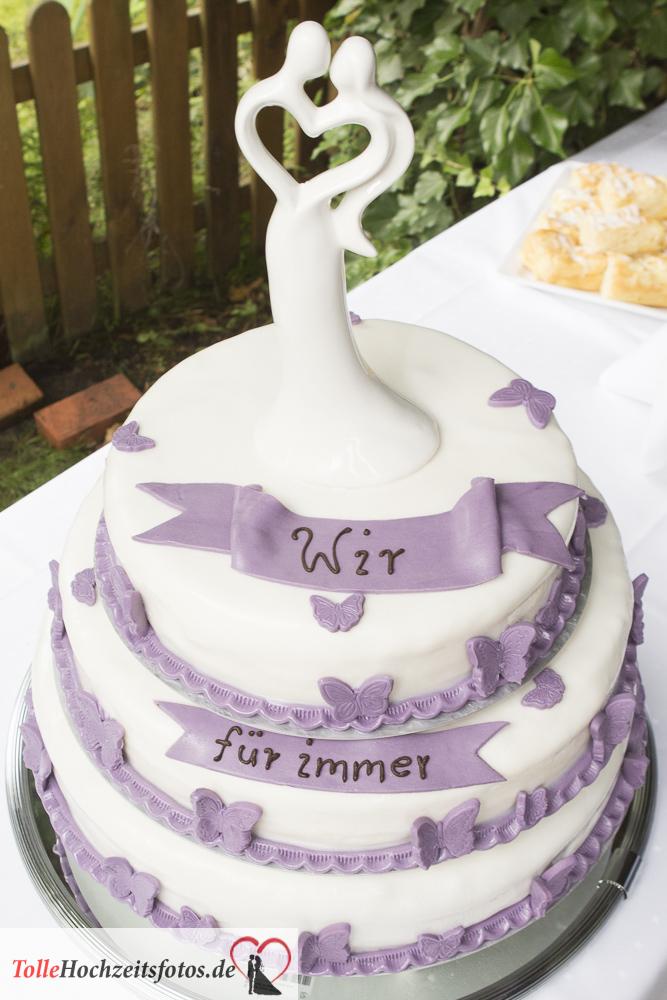 Hochzeitstorte wir für immer